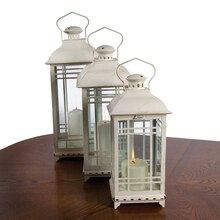 Classic White Lanterns, Set of 3