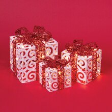 Lighted Giftboxes, Set of 3
