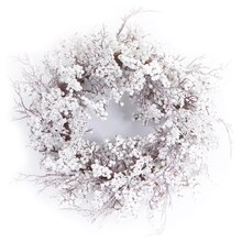 White Mixed Berry Wreath, Snow Covered