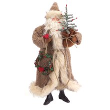 Rustic Santa with Tree and Wreath