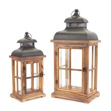 Glass Paned Lantern Set