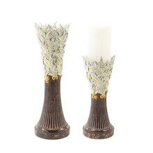 Holly Candle Holders, Set of 2