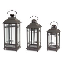 Mission Style Lanterns, Set of 3