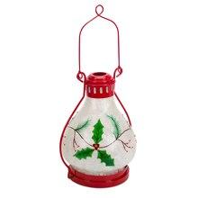 "LED Holly Lantern, 17"""