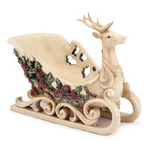 Sleigh with Holly & Berry Accent