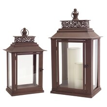 Clean Brown Lantern (Set of 2)