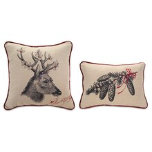 Deer & Pinecone Pillow Set