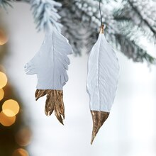 Gilded Feather Ornaments, medium