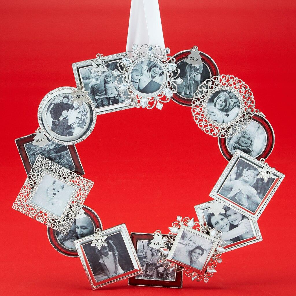 Mini frame ornament wreath for Photo frame ornament craft