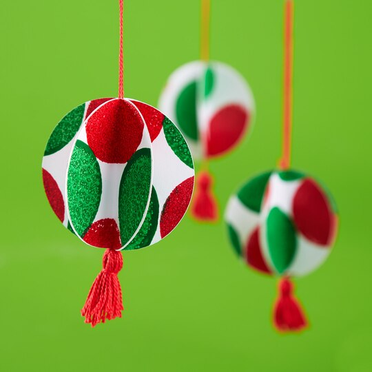 Kids 39 paper ornaments for Michaels crafts christmas ornaments