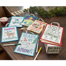 Glitter Christmas Color Signs, medium