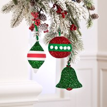 Kids' Glittered Foam Ornaments, medium