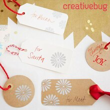 Stamped and Embossed Christmas Gift Tags, medium