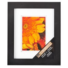 "Studio Décor Airfloat Gallery Frame with Double White Mat, Black 5""x7"""