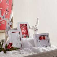 Holiday Paper: Framed Silver and Red Christmas Paper, medium