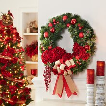 Christmas Ornament Wreath, medium