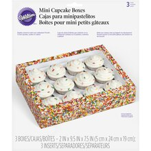 Wilton Mini Cupcake Treat Boxes, Jimmie Sprinkles