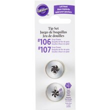 Wilton Left Handed Drop Flower Tip Set, Package