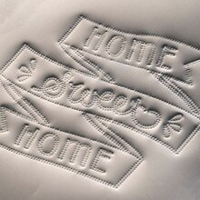 Stipple Metal Home Sweet Home, medium