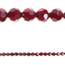 Bead Gallery Faceted Opaque Glass Beads, Ruby