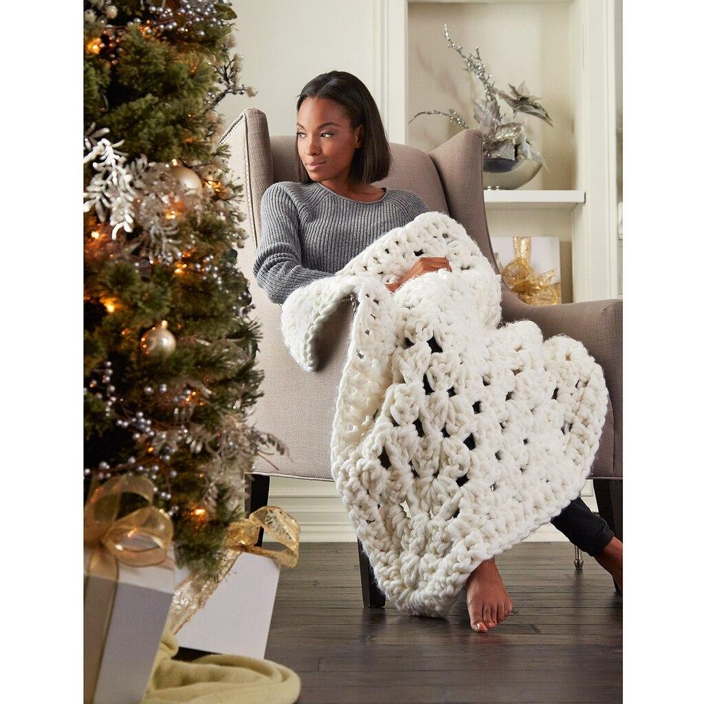 Loops Amp Threads 174 Chunky Cozy Lodge Lap Crochet Blanket