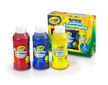 Crayola Washable Fingerpaints, Primary Colors Contents