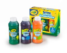 Crayola Washable Fingerpaints, Secondary Colors Contents
