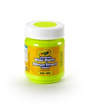 Crayola Washable Kids' Paint, Neon Unmellow Yellow