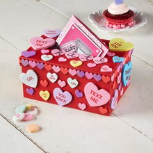 Kids' Conversational Heart Valentine's Day Card Box, medium