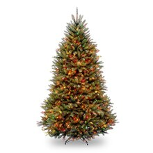 6.5 Ft. Pre-Lit Northern Dunhill Fir Full Artificial Christmas Tree, Multicolor Lights