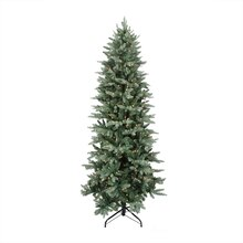 7.5 Ft. Pre-Lit Washington Frasier Fir Slim Artificial Christmas Tree, Clear Lights