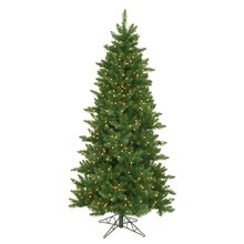7.5 ft. Pre-Lit Eastern Pine Slim Artificial Christmas Tree, Clear Lights