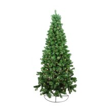 6 Ft. Pre-Lit Pine Artificial Wall Christmas Tree, Clear Lights