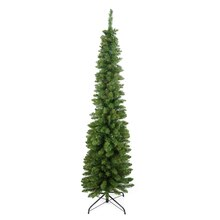 6 Ft. Pre-Lit Traditional Pine Pencil Artificial Christmas Tree, Clear Lights