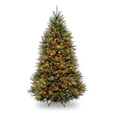 9 Ft. Pre-Lit Northern Dunhill Fir Full Artificial Christmas Tree, Multicolor LED Lights