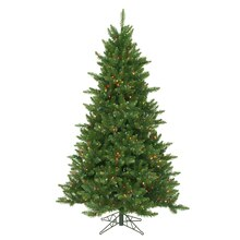 6.5 Ft. Pre-Lit Northern Dunhill Fir Full Artificial Christmas Tree, Multicolor LED Lights