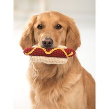 Lion Brand® Vanna's Choice® Coney Island Frank Crochet Dog Toy, medium