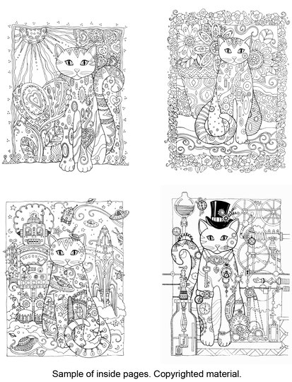 Creative HavenR Cats Coloring Book