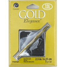 Cousin Plated Gold Elegance Head Pins, 2.5""