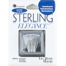 Cousin Sterling Elegance 0.925 Sterling Silver Ball Head Pins