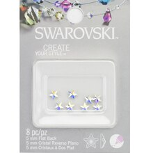 Swarovski Create Your Style Flat Back Crystals, AB Stars Pack
