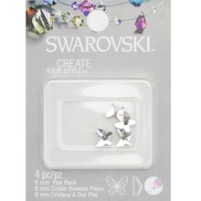 Swarovski Create Your Style Flat Back Crystals, Butterfly 8mm Pack