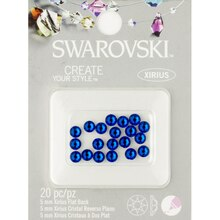 Swarovski Create Your Style Xirius Flat Back Crystals, Capri Blue 5mm