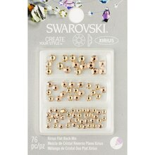Swarovski Create Your Style Flat Back Crystal Mix, Golden Shadow