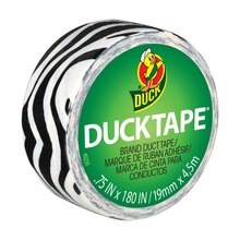 Ducklings Mini Duck Tape Brand Duct Tape, Zebra