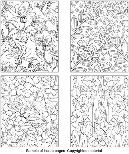 creative haven floral design color by number coloring book - Creative Haven Coloring Books