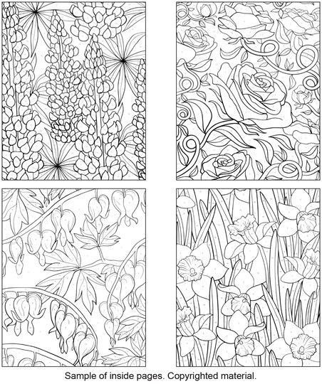 creative haven floral design color by number coloring book - Color By Number Books