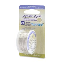 Beadalon Twisted Artistic Wire, Silver-Plated, 24 Gauge