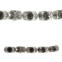 Bead Gallery Large Rondelle Crystal Beads, Metallic Silver, Close Up