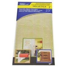 """Westcott LetterCraft Helvetica Repositionable Vinyl Lettering, Gold, 1"""""""
